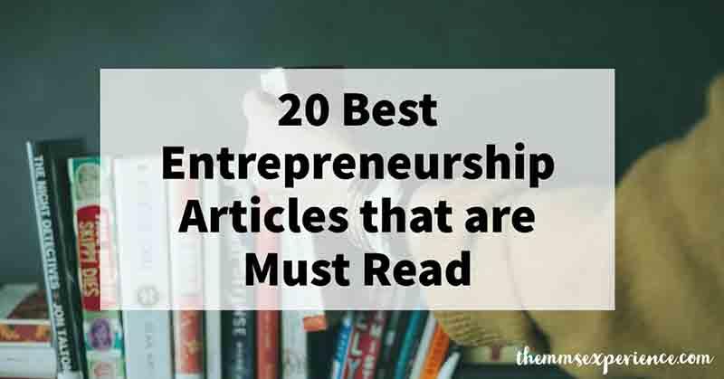 best entrepreneurship & entrepreneur articles 2021