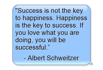 success quotes, business quotes, success-is-not-the-key-to-happiness-happiness-is-the-key-to