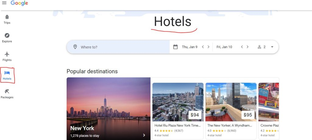 Google Hotels Review 2020