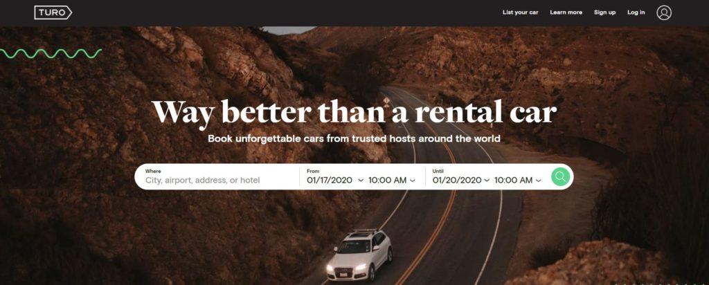 Turo car rental review 2020