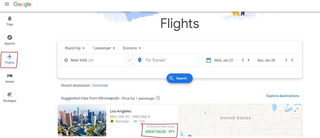 google flights dashboard 2020 review