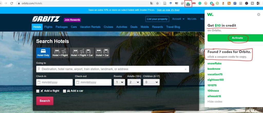use wikibuy to save money on orbitz travels
