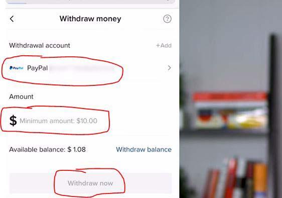how to withdaw money on tiktok
