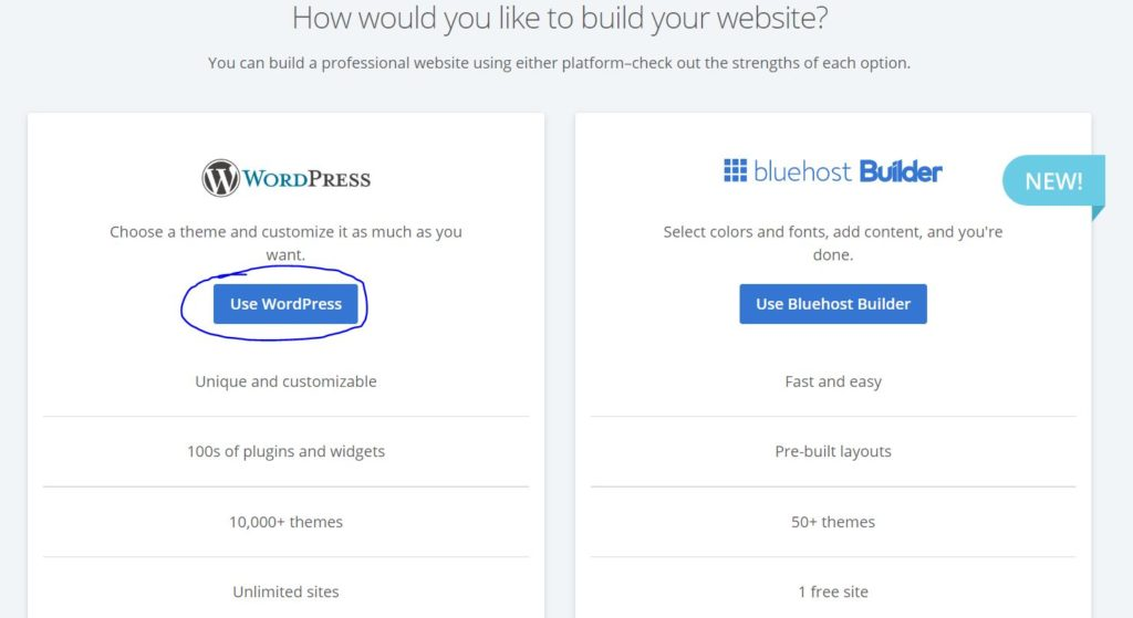 how to start a blog with bluehost 10