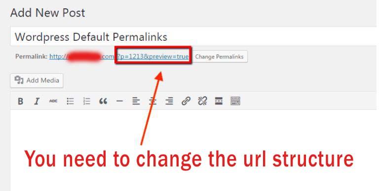 liên kết cố định mặc định của wordpress