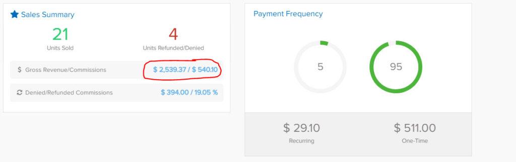 affiliate programs screenshot