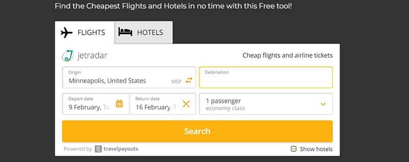 travel payouts widget affiliate program