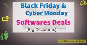 black friday and cyber monday softwares deals