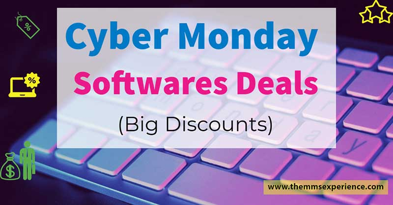 cyber monday deals softwares 2021