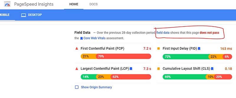google web vitals - google ranking factors