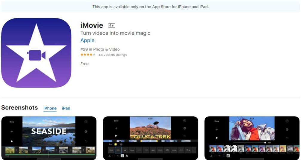 imovie review