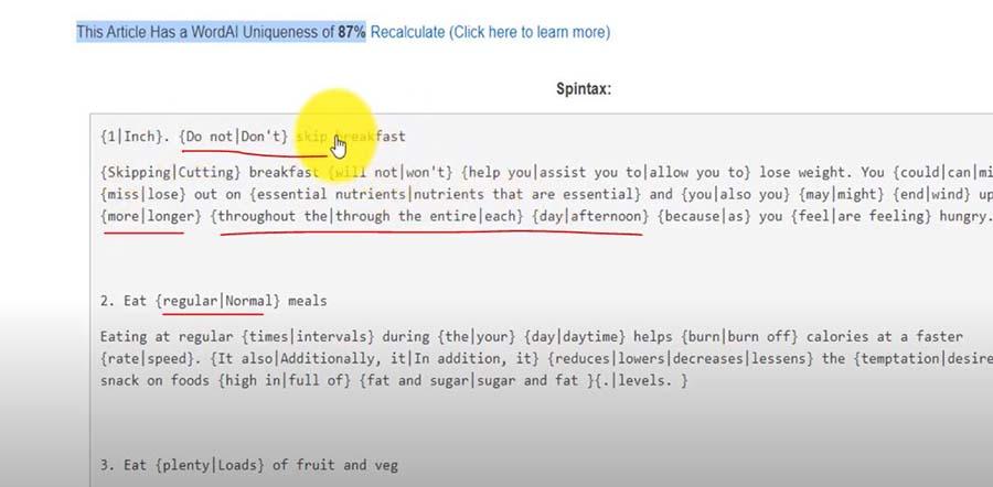 Wordai vs SEO content machine article spinning