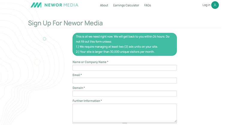 newor media review, adsense alternative
