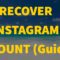 Recover a hacked or disabled Ig Account fast