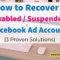 3 ways to recover restricted or suspended facebook ad account by The MMS Experience